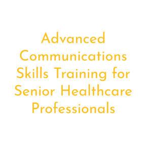 Advanced comms skills training