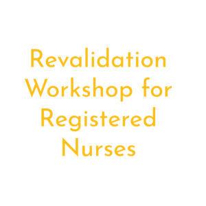 Revalidation workshop