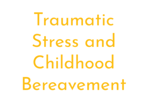 Traumatic stress and childhood bereavement